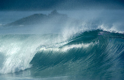 photo of wave in Big Sur